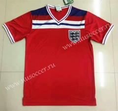 1982 Retro Version England Away Red Thailand Soccer Jersey AAA-LL