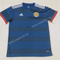 2020 European Cup Scotland Home Blue & Black Thailand Soccer Jersey AAA-7T