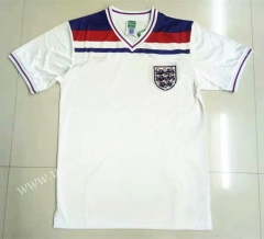 1982 Retro Version England Home White Thailand Soccer Jersey AAA-LL