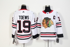 NHL Chicago Blackhawks White #19 Jersey