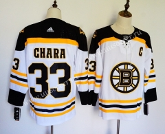 NHL Boston Bruins White & Yellow #33 Jersey