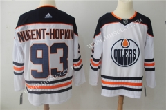 NHL Edmondon Oilers White #93 Jersey