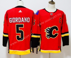 NHL Calgray Flames Red  #5 Jersey