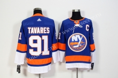 NHL New York Islanders Blue #91 Jersey