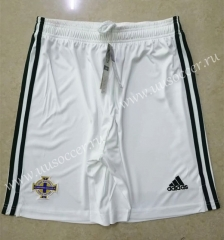 2020 European Cup Northern Ireland Home White Thailand Soccer Shorts