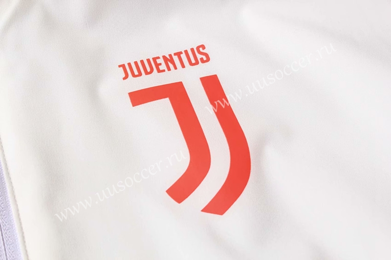 2019 2020 juventus white with pink logo trench coats uniform with hat 815 juventus pink logo trench coats uniform