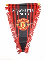 Man United Red Soccer Triangle Flag
