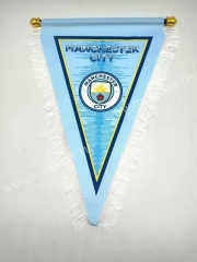 Manchester City Blue Soccer Triangle Flag