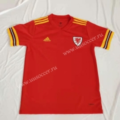 2020 European Cup Wales Home Red Thailand Soccer Jersey AAA
