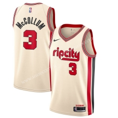 City Version NBA Portland Trail Blazers White #3 Jersey
