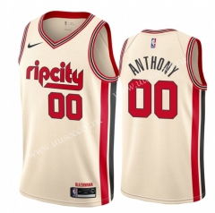 City Version NBA Portland Trail Blazers White #00 Jersey