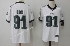 NFL Philadelphia Eagles White #91 Jersey