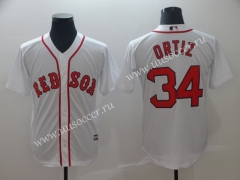 MLB Boston Red Sox White #34 Jersey