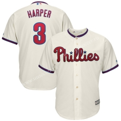 MLB Philadephia Phillies White #3 Jersey