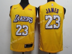 With Wish City Version 2019 NBA Lakers Yellow #23 Jersey