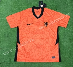 2020 European Cup Netherlands Home Orange Thailand Soccer Jersey AAA-403
