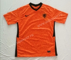 2020 European Cup Netherlands Home Orange Thailand Soccer Jersey AAA-510