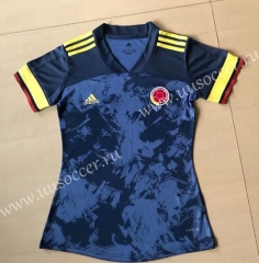 2020 European Cup  Colombia Away Blue Female Thailand Soccer Jersey AAA
