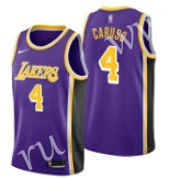 NBA Lakers Purple #4 Jersey