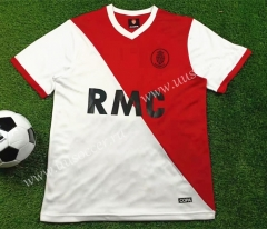 1977-1982 Retro version Monaco Home Red & White Thailand Soccer Jersey AAA-503