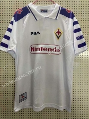 1998 Retro Version Fiorentina Away White Thailand Soccer Jersey AAA-811