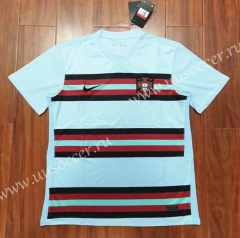 2020 European Cup Portugal Away Red &White Thailand Soccer Jersey AAA-807
