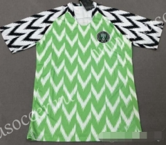 2018 World Cup Nigeria Home White & Green Soccer Thailand jersey