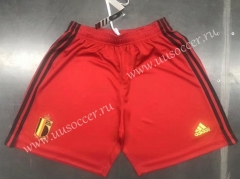 2020 European Cup Belgium Home Red Thailand Soccer Shorts
