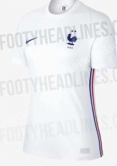 2020 European Cup France Away White Thailand Soccer Jersey AAA-407