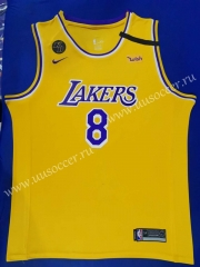 Commemorative Edition NBA Lakers Yellow #8 Jersey