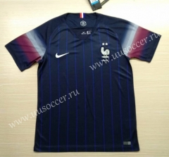 2020 European Cup France Home Blue Thailand Soccer Jersey AAA-509