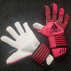 2019 New Soccer Goalkeeper Gloves Finger Protection Professional Men Football Gloves With Pink Color