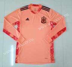 2020 European Cup Spain Goalkeeper Orange Thailand LS Soccer Jersey-510