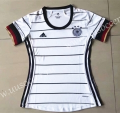 2020 European Cup Germany Home White Female Thailand Soccer Jersey