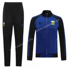 2020-2021 Argentina  Blue & Black Thailand Soccer Jacket Uniform