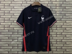 2020 European Cup France Black Thailand Soccer Jersey AAA