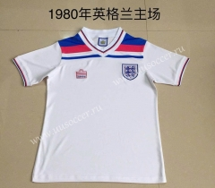 1980 Retro Version England Home White Thailand Soccer Jersey AAA-