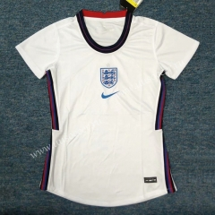2020 European Cup England Home White Female Thailand Soccer Jersey