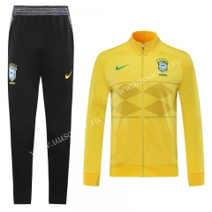 2020-2021 Brazil Yellow Soccer Jacket Uniform-LH