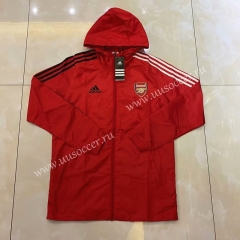 2020-2021 Arsenal Red Trench Coats With Hat-LH