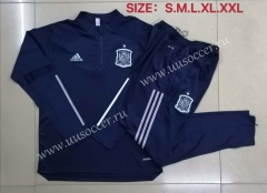 2020-2021 Spain Royal Blue Thailand Soccer Tracksuit Uniform