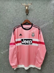 Retro Version 2015-2016 Juventus Pink Thailand LS Soccer Jersey AAA