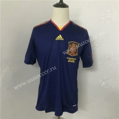 Retro version 2010 World Cup Spain Blue Thailand Soccer Jersey AAA