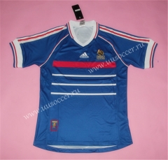 1998 Retro Version France Blue Thailand Soccer Jersey AAA