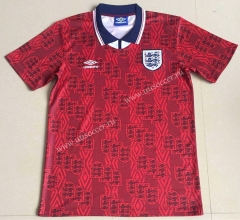 1994  Retro VersionEngland Away Red Thailand Soccer Jersey AAA-AY