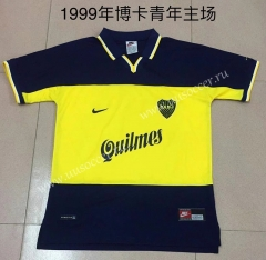 1999 Retro Version Boca Juniors Black & Yellow Thailand Soccer Jersey AAA