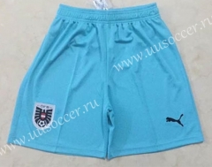 2020-20201 Austria Light Blue Thailand Soccer Shorts