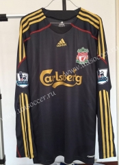 Retro Version Liverpool Black Thailand LS Soccer Jersey AAA