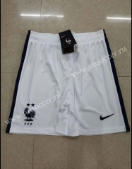 2020-20201 France Away White Thailand Soccer Shorts