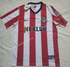 96-97 Retro version Deportivo Guadalajara Red & White  Thailand Soccer Jersey AAA